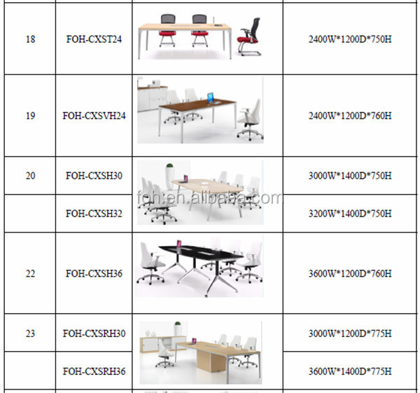 10 People Conference Room Furniture Conference Table(FOH UMH45)