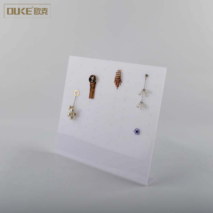 High quality fashion white earing holder acrylic jewelry display