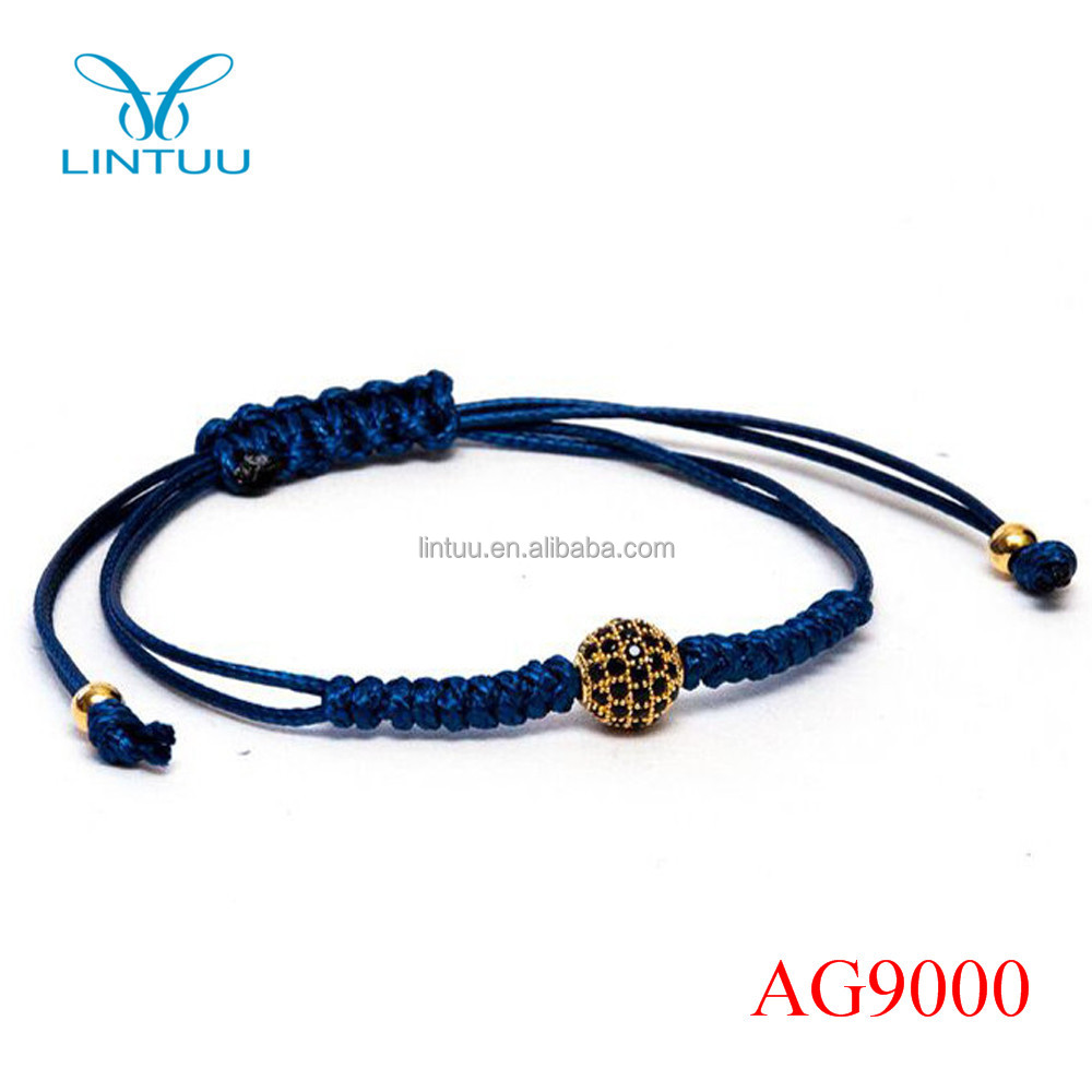 Alibaba Wholesale Zircon Ball 925 Silver Adjustable Unisex Bracelet