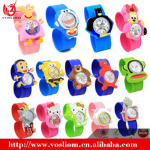 Wholesale Multicolour Cartoon Anime Silicone Kids Quartz Watch From Stock Existed Mould