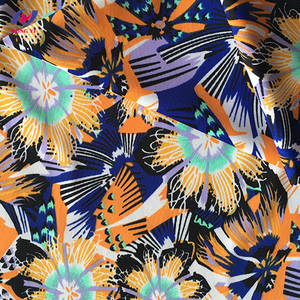 Custom Printed Polyester Beach Swimwear Swimsuit Fabric For Men and Woman