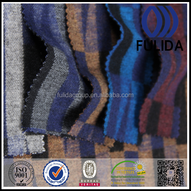 fashion geometric pattern design wool polyester nylon fabric
