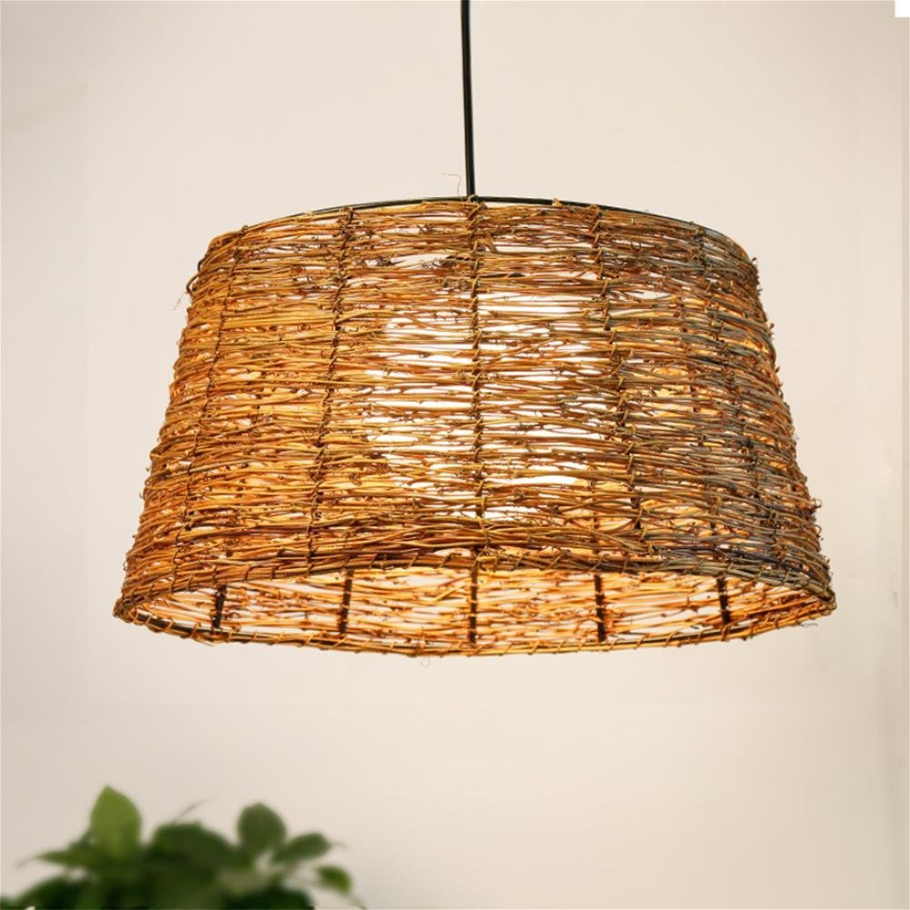 GAO LGDT Southeast Asia chandeliers, rattan chandeliers, chandeliers retro Zen 39CM 25CM 106CM
