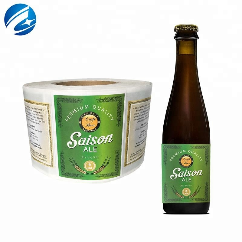China High Quality Custom Printing Beer Sticker Label