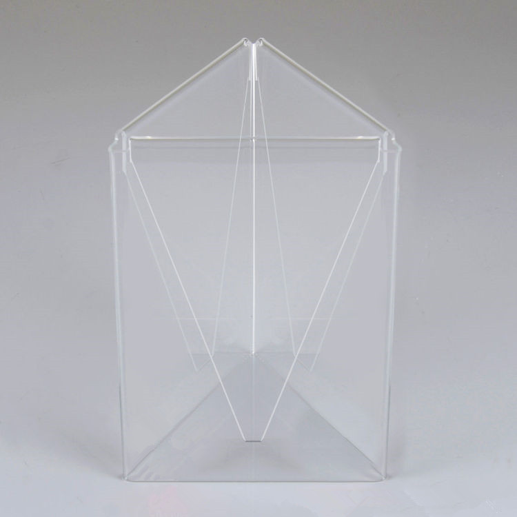3 face restaurant acrylic table stand menu holders