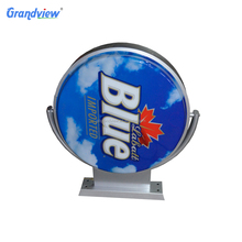 Waterproof street wall mount advertising Rotating plastic beer led acrylic light box signs