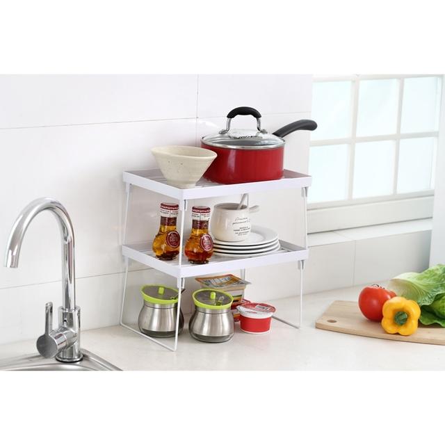 Multifunctional Dish Racks For Cabinets Plastic Kitchen Utensil Rack
