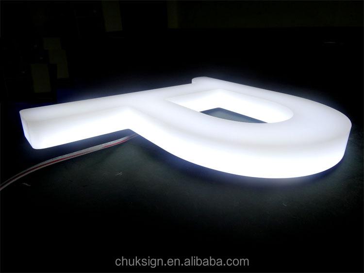 high brightness 3d illuminated front side lit white. Black Bedroom Furniture Sets. Home Design Ideas