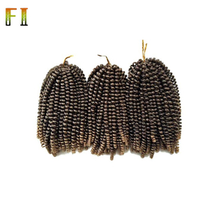 African noble gold synthetic hair extension weave curly hair