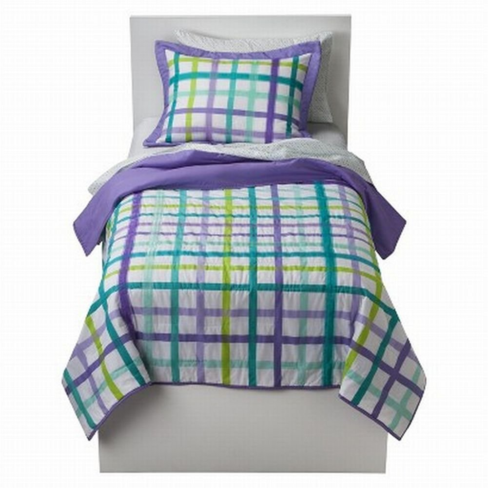 stain walmart com water lotus green and plaid mini comforter resistant home ip set