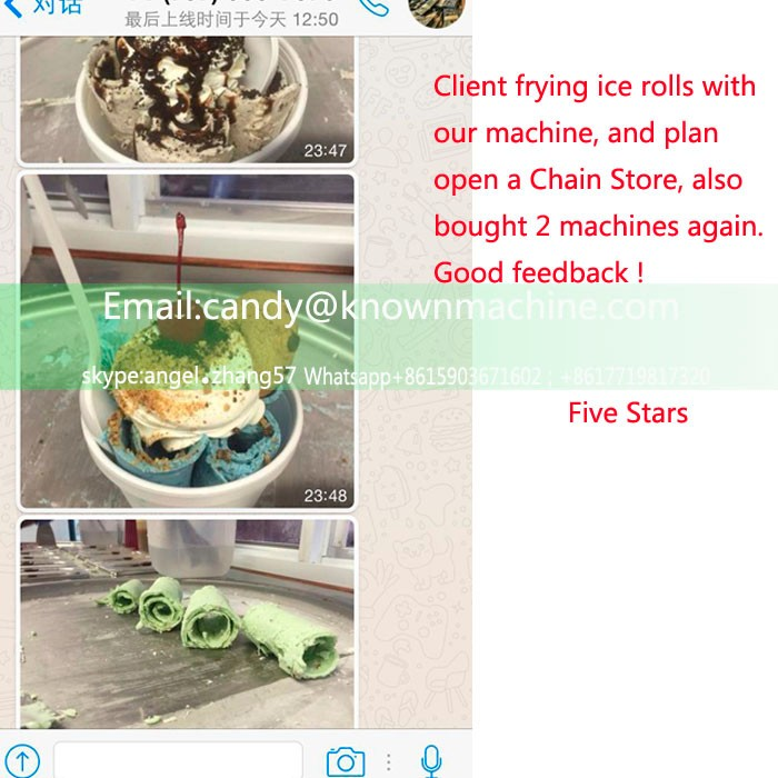 2016 hot sale fried ice cream machine big pan size 45*45 cm fry ice cream rolling machine for sale
