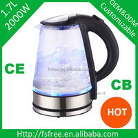 Hot New Product for 2014 Glass Electric Tea Kettle China Home Kitchen Appliance