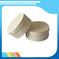 manufacturer supply unfinished wooden cake packaging box cheap small round wood cheese box