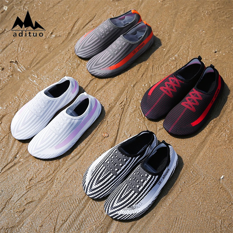 Super soft Snorkeling Shoes Creative Fancy Printing Non-Slip Scuba Diving Shoes Quick Dry Swimming Shoes