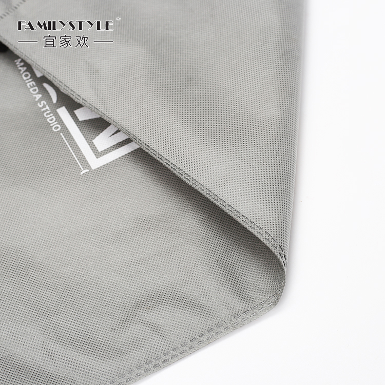 Custom Grey Non Woven Drawstring Laundry Bag for Hotel