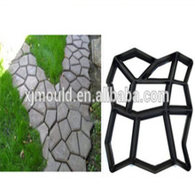 Plastic paving molds for making slabs and paths concrete pavement molds