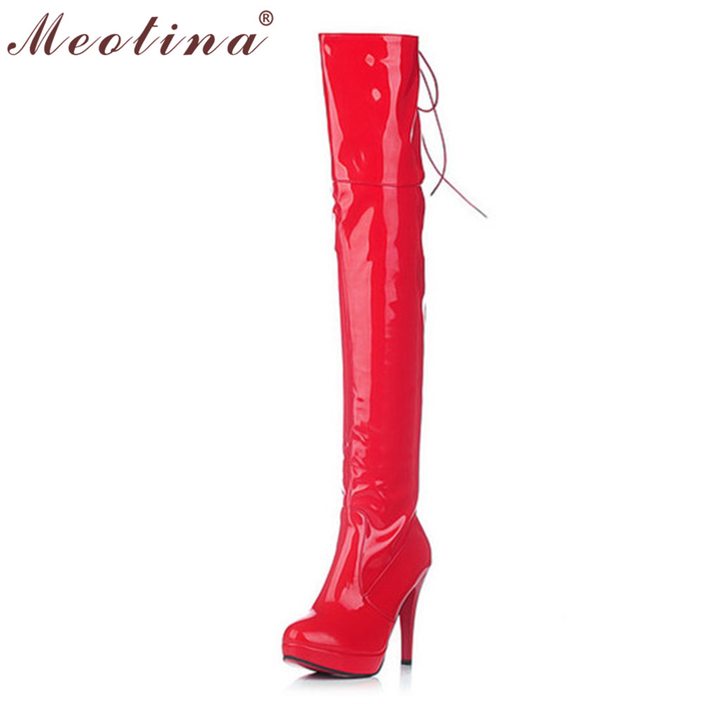 8edc753f83 Popular Red Patent Leather Thigh Boots-Buy Cheap Red Patent ... red patent  leather thigh boots. Motorcycle Studded Thigh High Boots Platform Heels ...