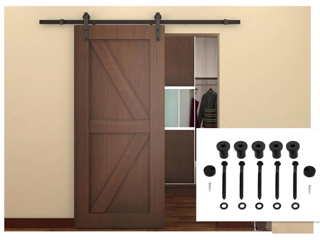 Rustic style inteior wood sliding barn door hardware for Interior sliding partition doors