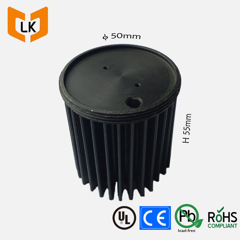 IP67 waterproof circular anodized black color t8 10w led bulb heat sink manufacturers