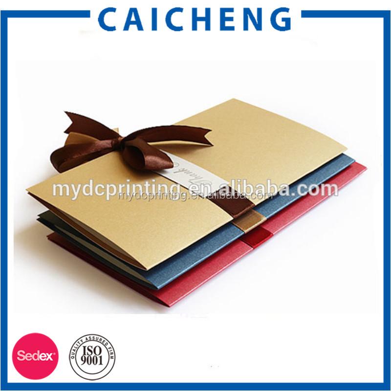 Pliage main cadeau carte de mariage carte d 39 invitation avec ruban papier impression sur papier - Pliage papier cadeau ...