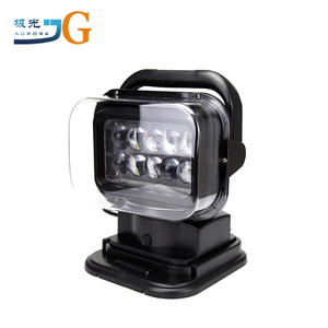 360angle 50W Rotating Search Light Yacht Led Light With Remote Control LED Spot Search Light Offroad Truck Car Boat