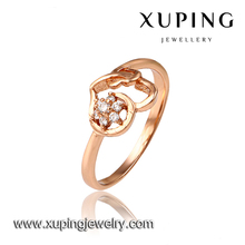 xuping fashionable jewelry rose gold rings women jewelry engagement ring