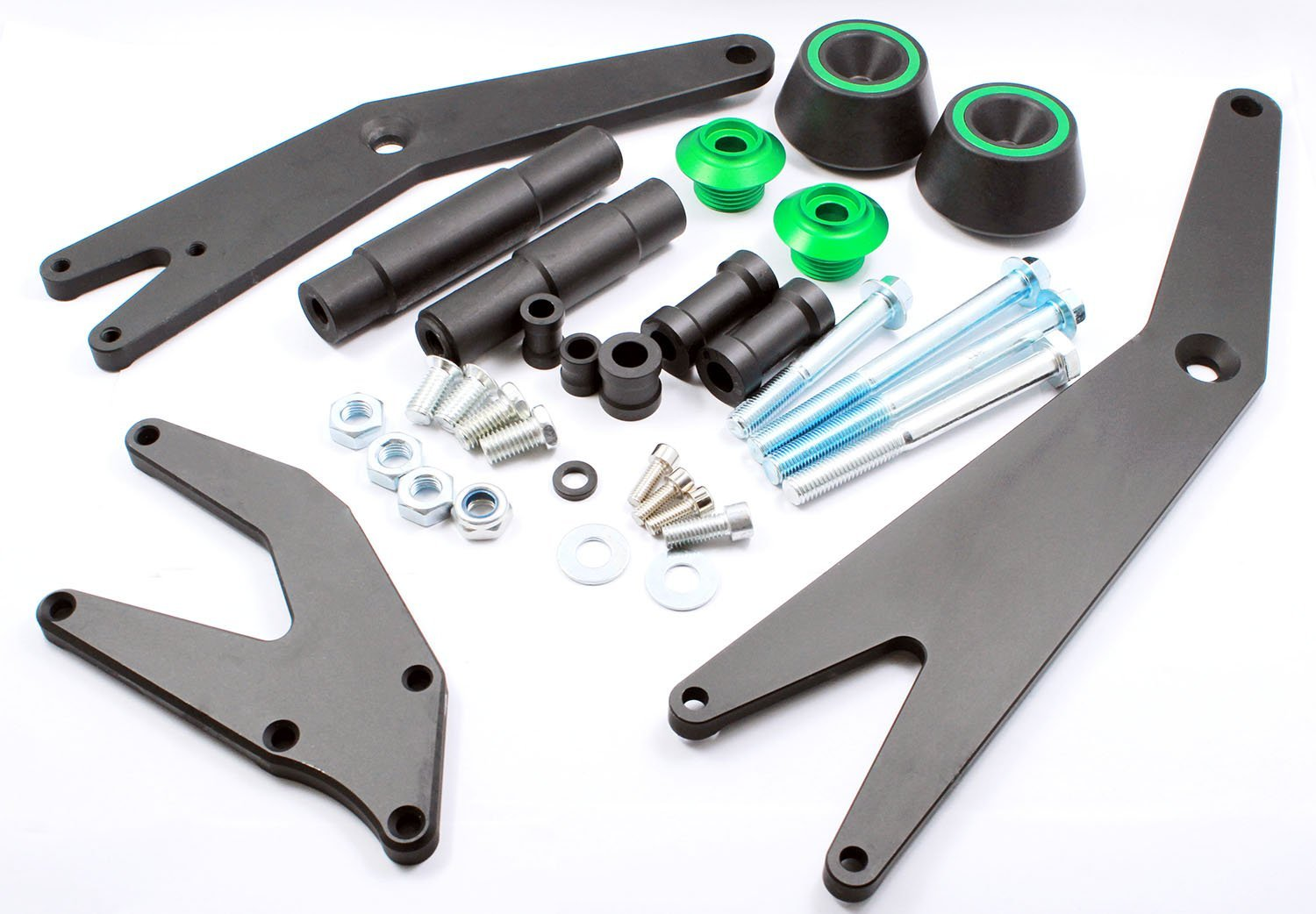 Motorcycle CNC Falling Crash Protector Frame Sliders Guard Mount Bracket Kit For Kawasaki NINJA300 NINJA250 ZX300 ZX250 (Kawasaki, NINJA250/300)