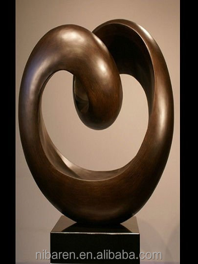 beautiful heart shape abstract bronze sculpture