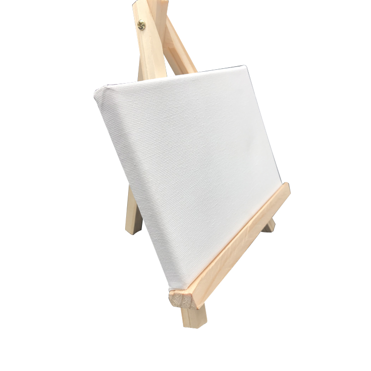 Custom Tabletop children mini Cardboard Paper Pad Painting Wood Easel Stand