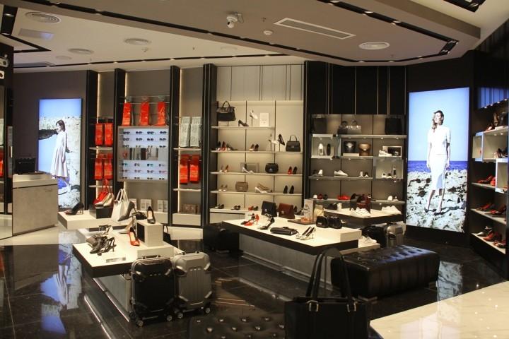 0c5820d628 Sofisticado fast fashion calçado exposição da loja de calçados e móveis