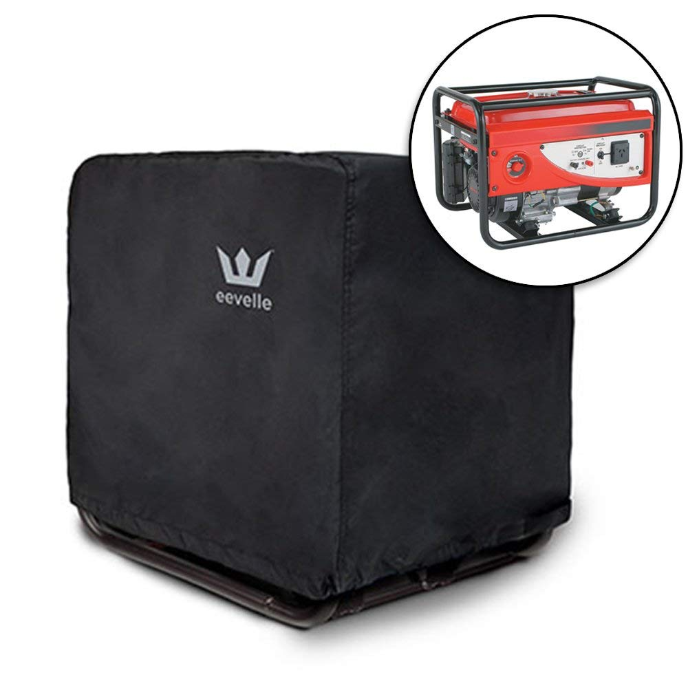 """Eevelle Durable, Water/UV Resistant RV Generator Motor Cover, Black, L (33""""L x 27"""" W x 27"""" H)"""