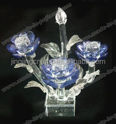 Graceful & Decorative Crystal Flower Craft with popular shape