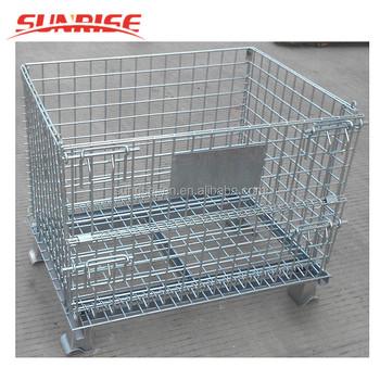 Faltbare Verzinktem Drahtgeflecht Behälter Roll Metall Lagerung ...