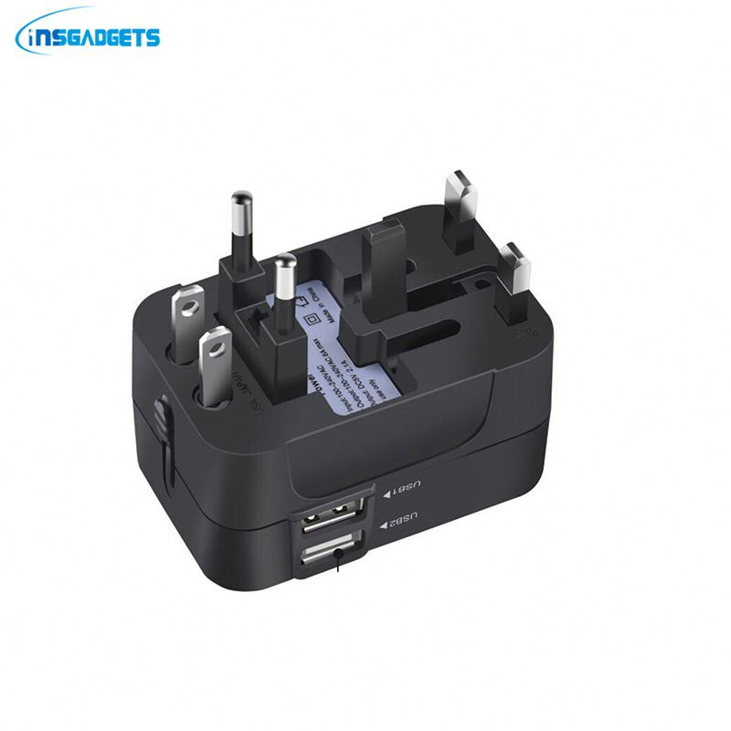 Travel adapter with usb port Hotf7 multi use plug adaptor