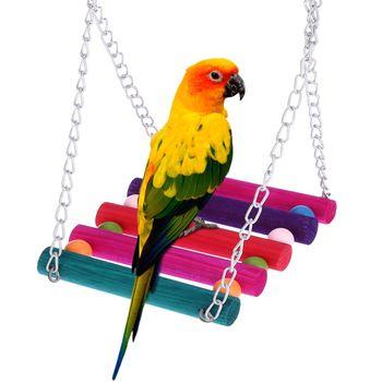 Kayu Berdiri Mendaki Tangga Parrot Mainan Burung Parrot Ayunan