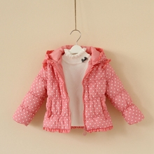 Free shipping 2013 new winter Children s clothing ruffle wadded outerwear cotton padded jacket baby down