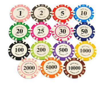 Wholesale Cheap Custom Clay 8 Crown Poker Chips