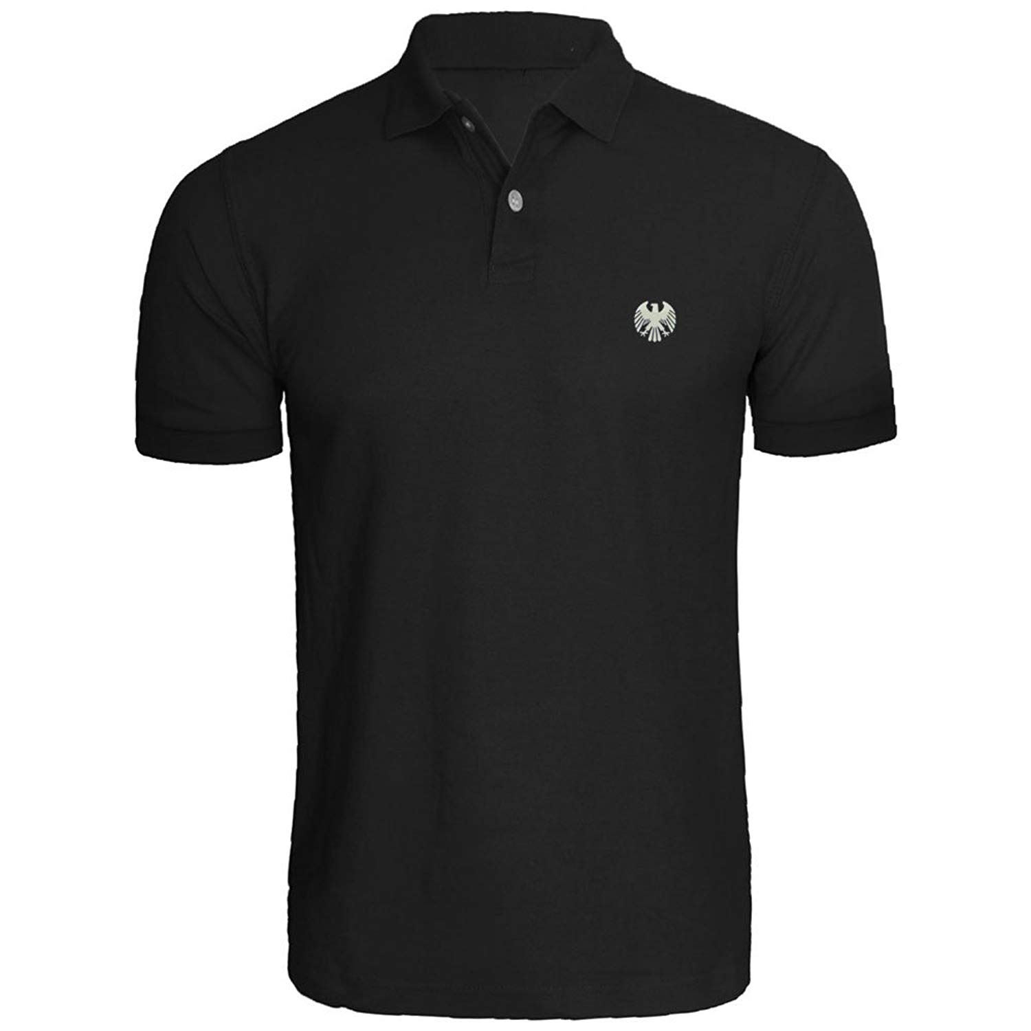 9472f20a326 Get Quotations · Loo Show Mens German Eagle Embroidered Polo Shirts Men  Shirts