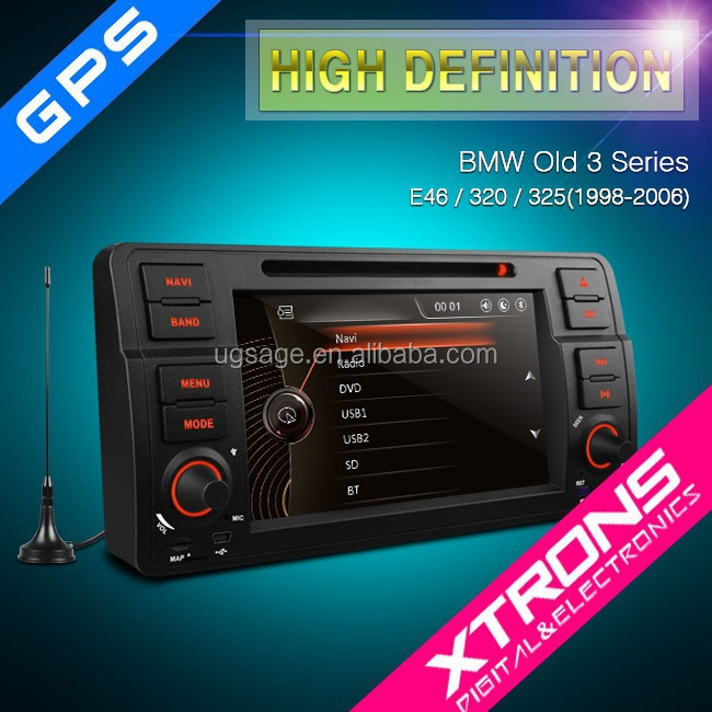 "Xtrons PF7146BGTD 7"" 1080P Video HD Digital Touch Screen DVD Player with GPS Navigation Built-in DVB-T for E46 BMW 3 Series"