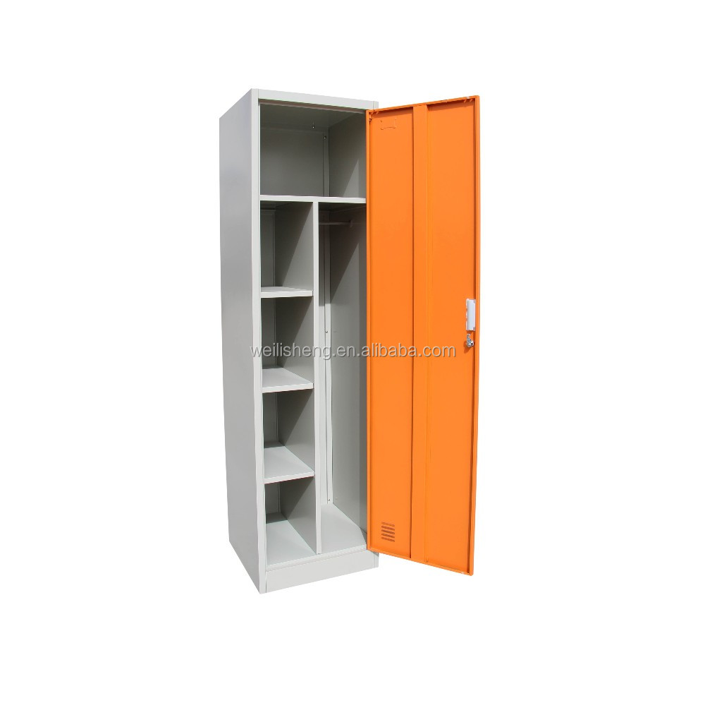 Special offer for single door steel wardrobe for hang clother