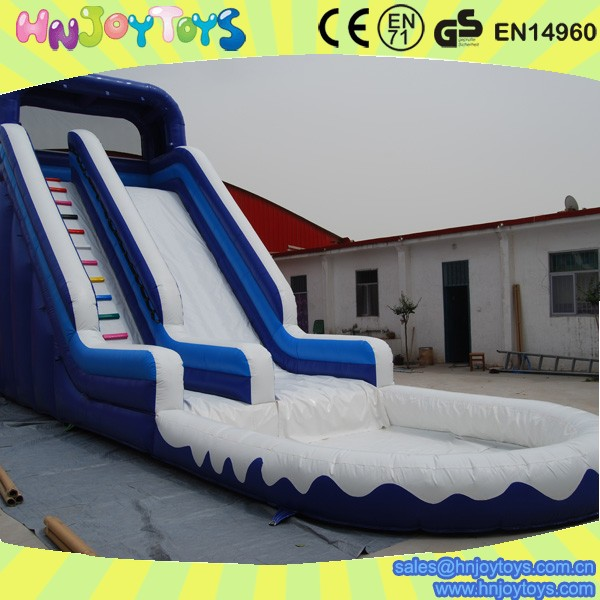 Inflatable Slide Commercial: Commercial Adult Inflatable Water Slide With Pool Big
