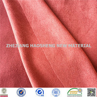 Hign Desity Fashion Weft Knitting Stretch Microfiber Fabric Suede Fabric for Pillow