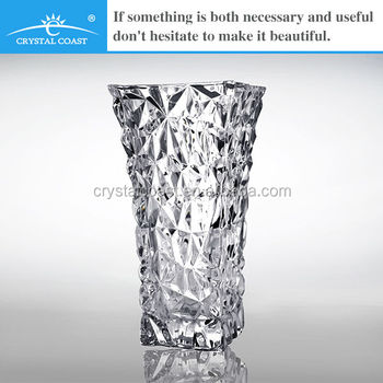 Beautiful New Design Clear Bohemia Waterford Crystal Glass Vase