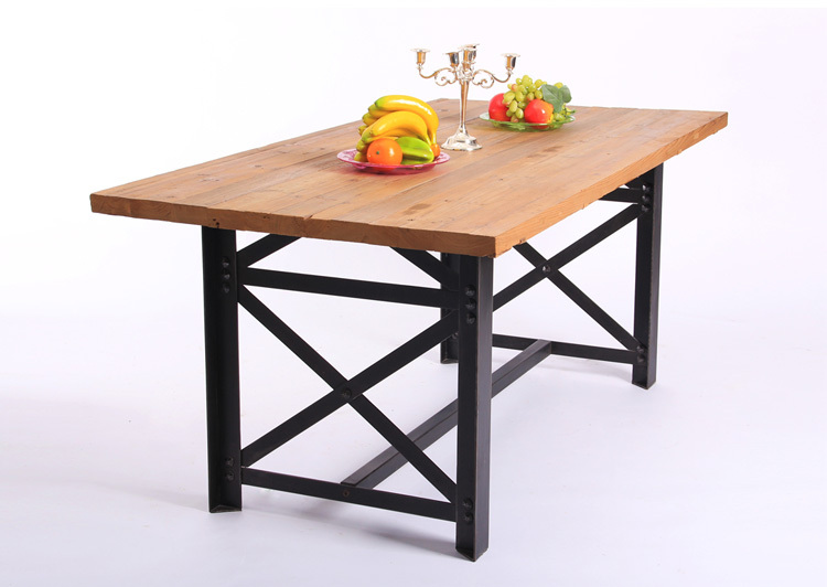 Vintage American dinner table to do the old wrought iron wood furniture retro dinette table desk desk