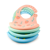 Best selling FDA approved customised waterproof silicone baby bib for children