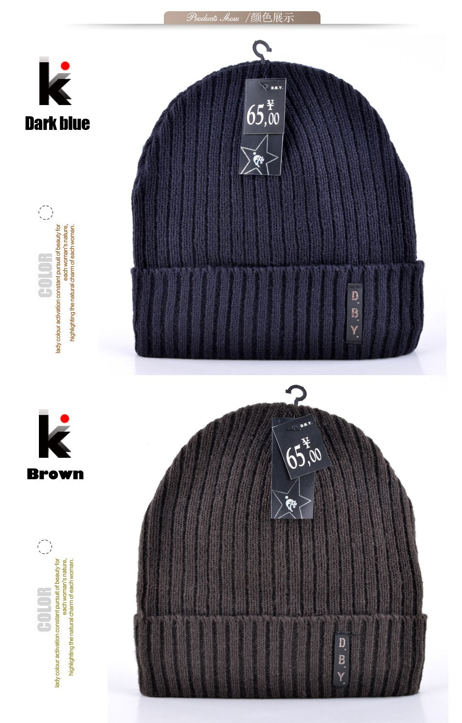 a13f00c7485f0 Wholesale 2015 Mens Designer Hats Bonnet Winter Beanie Knitted Wool ...