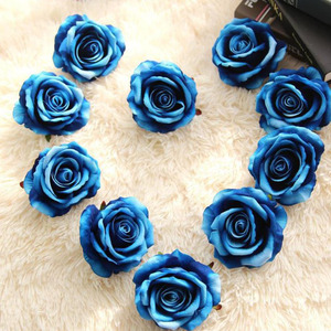 10 Years Factory Supply Wedding Decorative Soft Real Touch Fabric Plastic Artificial Rose Flower Head Silk