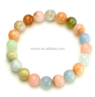 AAA Grade Natural Round Birthstone Gem Beads Genuine Semi Precious Gemstones Bead Stretch Bracelet Hand Made Loose Beads Bracele