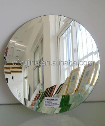 China 3mm thick half inch bevelled lead-free silver mirror for hotel