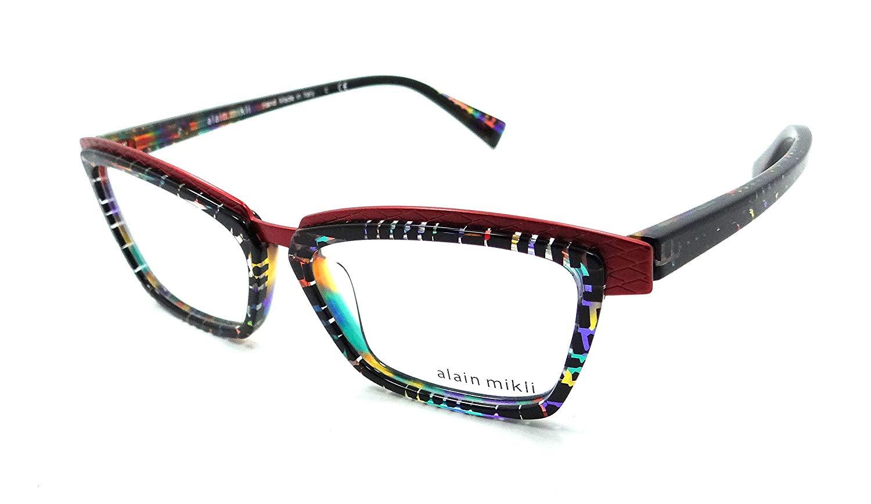 da37714affa Get Quotations · Alain Mikli Rx Eyeglasses Frames A02015 B0F3 53-15-140  Squares Multicolored Red